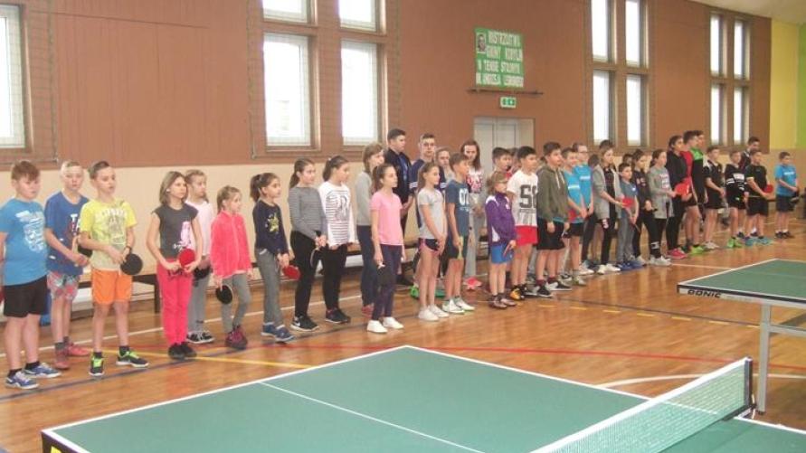 Otwarte Mistrzostwa Gminy Kobylinw tenisie stołowymim. Andrzeja Lesinskiego