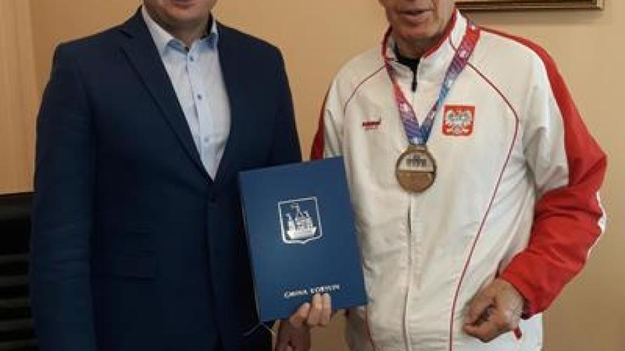 Srebrny medalista z wizytą u Burmistrza