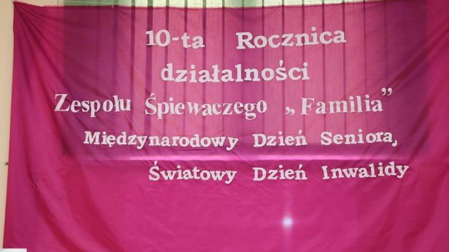 10-lecie Zespołu Śpiewaczego Familia w Kuklinowie