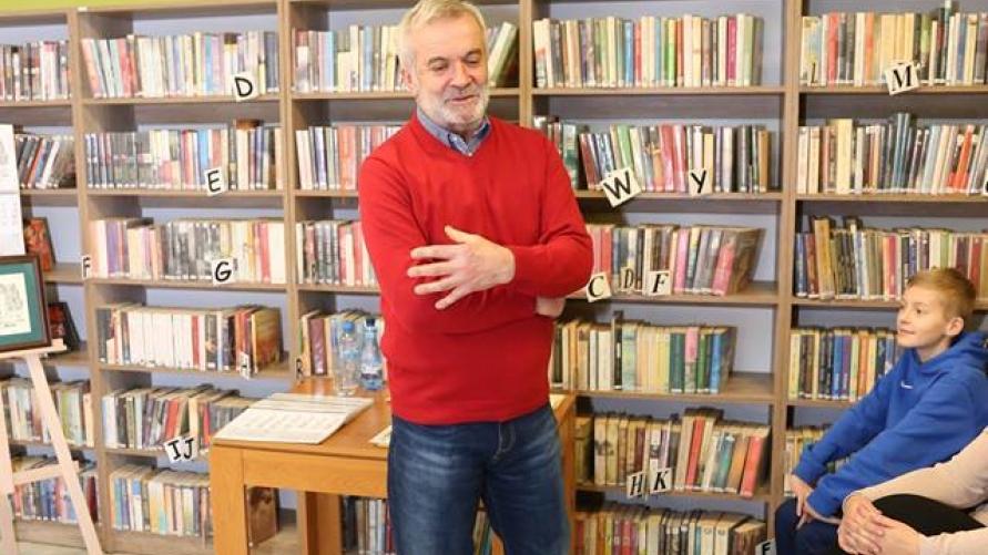 Wystąpienie Krzysztofa Cepy w Bibliotece.