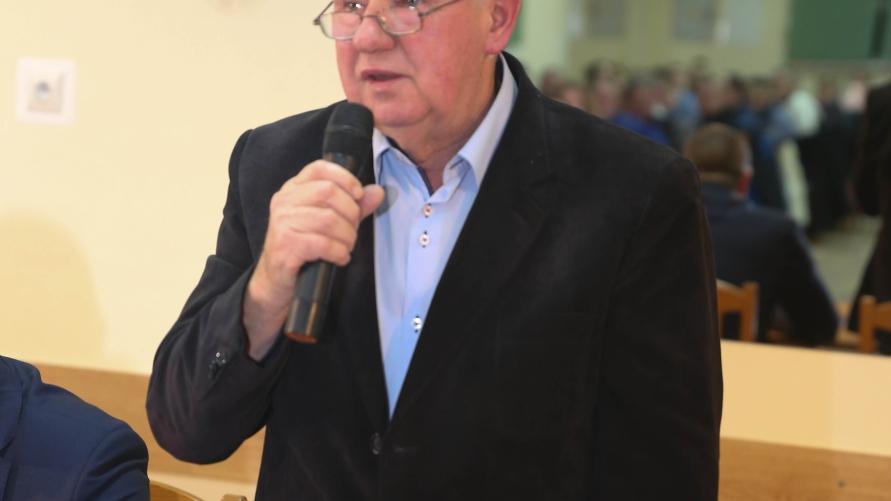 Sołtys Kuklinowa Władysław Konieczny.