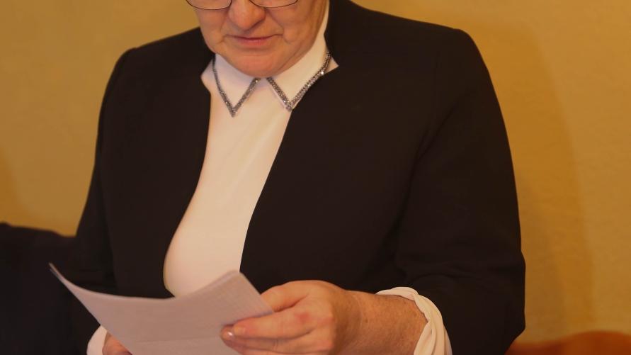 Sołtys Rębiechowa Małgorzata Kucharczyk.