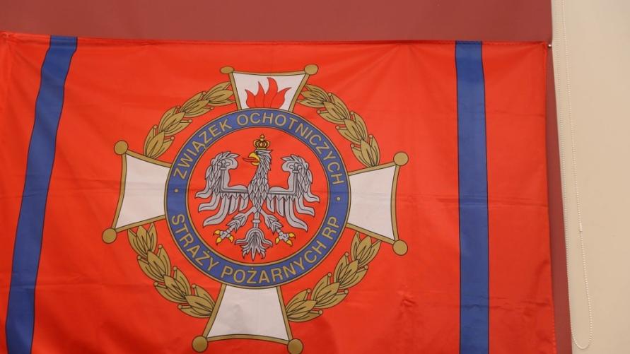 Sztandar Związku Ochotniczych Straży Pożarnych RP.
