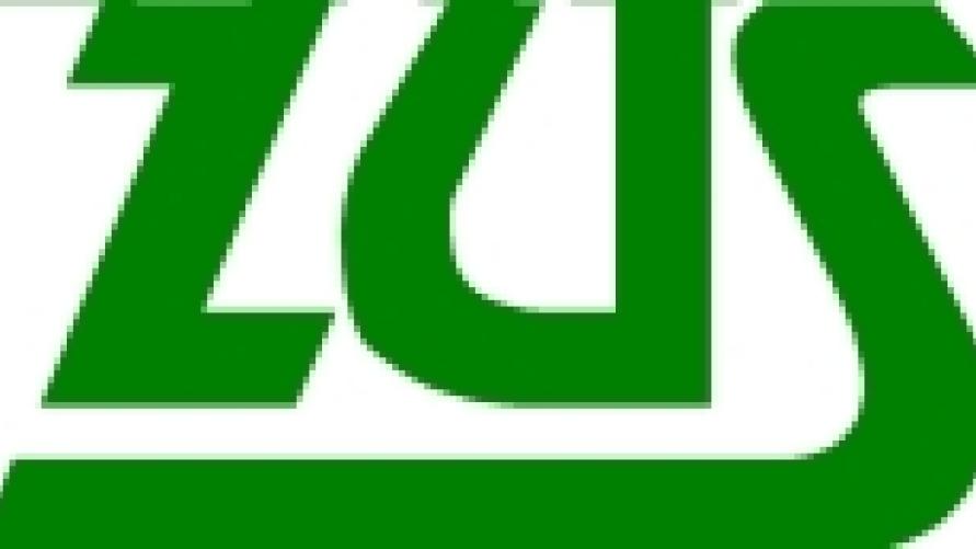 Napis koloru zielonego ZUS.