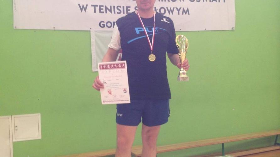 Robert Wachowiak z brązowym medalem na mistrzostwach nauczycieli.