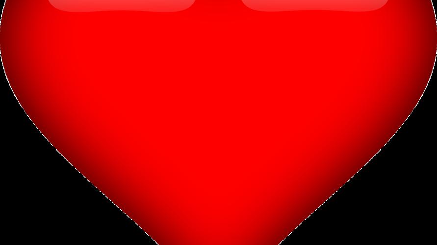 Duże serce czerwone