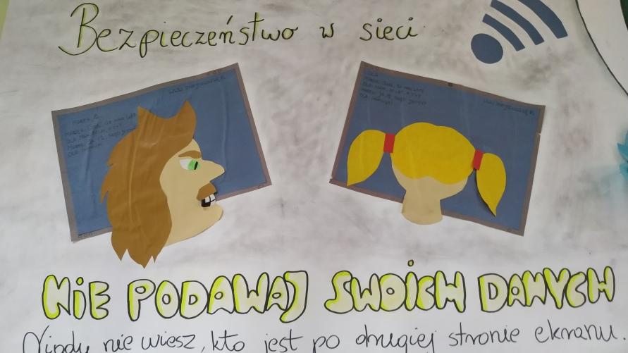 Plakat dot. bezpieczeństwa w internecie