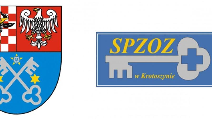 Logo Powiatu Krotoszyńskiego i SPZOZ Krotoszyn