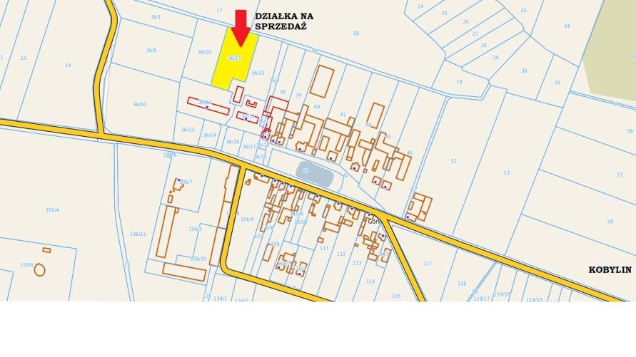 mapa Górki - działka na sprzedaż