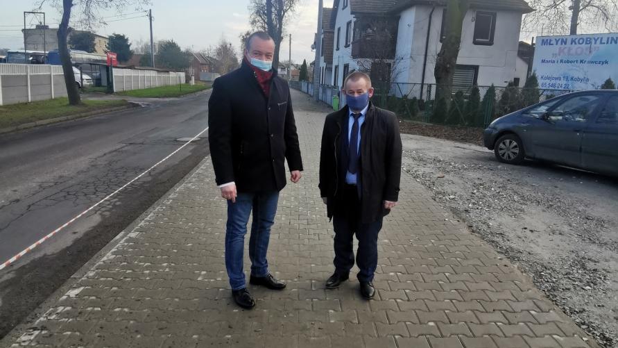 Burmistrz Tomasz Lesiński i Starosta Stanisław Szczotka