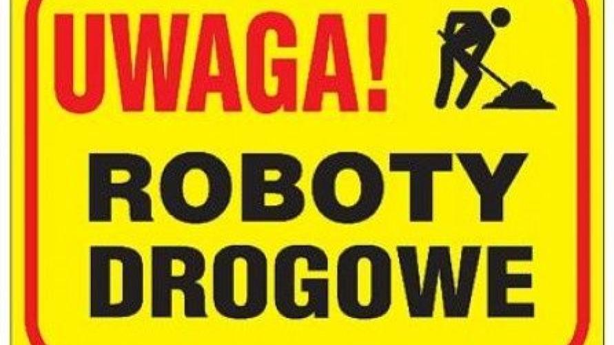 znak uwaga roboty drogowe