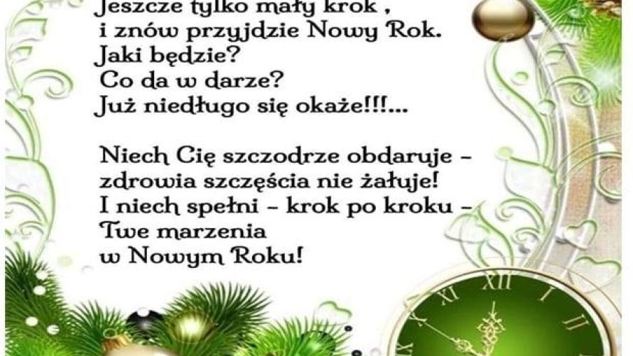 Życzenia noworoczne od Zarządu Koła nr 9 PZERiI w Kobylinie - jak w treści