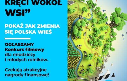 Plakat przedstawia informację o konkursie
